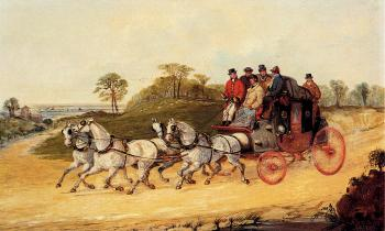 Henry Alken : Mail Coaches on an Open Road
