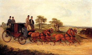 Henry Alken : Mail Coaches on an Open Road II