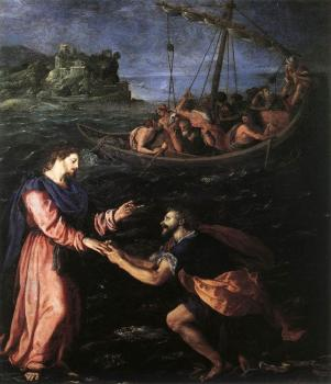 Alessandro Allori : St Peter Walking on the Water
