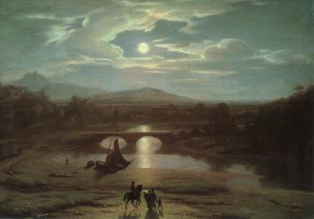 Washington Allston : Moonlit Landscape