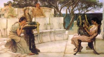 Sir Lawrence Alma-Tadema : Sappho and Alcaeus
