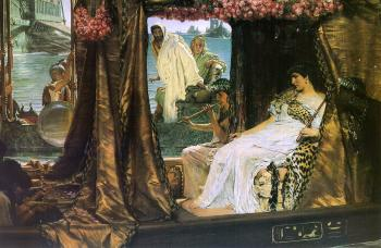 Sir Lawrence Alma-Tadema : Antony and Cleopatra