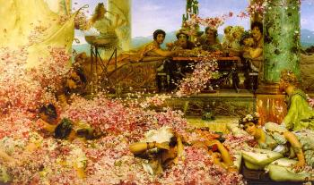 Sir Lawrence Alma-Tadema : The Roses of Heliogabalus
