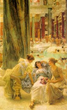 Sir Lawrence Alma-Tadema : The Baths of Caracalla