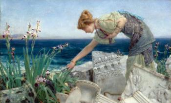 Sir Lawrence Alma-Tadema : Among the Ruins