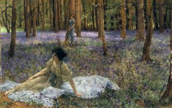 Sir Lawrence Alma-Tadema : Bluebells