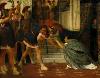 Sir Lawrence Alma-Tadema : Claudius Summoned