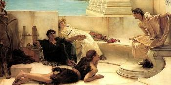 Sir Lawrence Alma-Tadema : A Reading from Homer