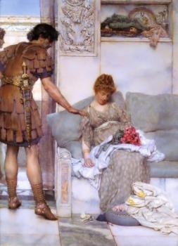 Sir Lawrence Alma-Tadema : A Silent Greeting