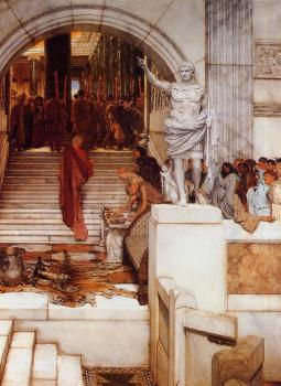 Sir Lawrence Alma-Tadema : After the Audience