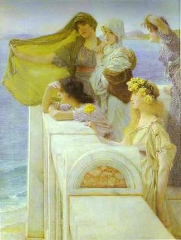 Sir Lawrence Alma-Tadema : At Aphrodite's Cradle