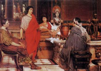 Sir Lawrence Alma-Tadema : Catullus at Lesbia's