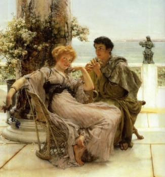 Sir Lawrence Alma-Tadema : Courtship, The Proposal