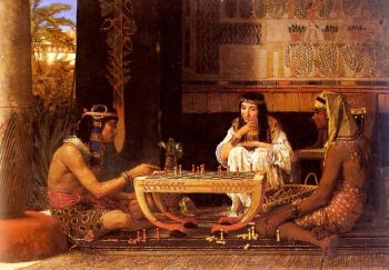 Sir Lawrence Alma-Tadema : Egyptian Chess Players