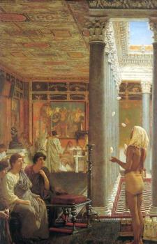 Sir Lawrence Alma-Tadema : Egyptian Juggler