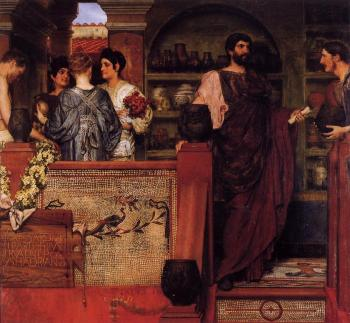 Sir Lawrence Alma-Tadema : Hadrian Visiting a Romano-British Pottery