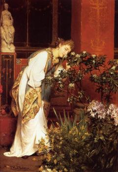 Sir Lawrence Alma-Tadema : In the Peristyle
