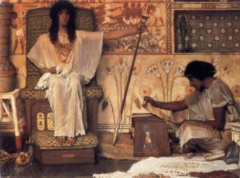 Sir Lawrence Alma-Tadema : Joseph, Overseer of Pharaoh's Graneries