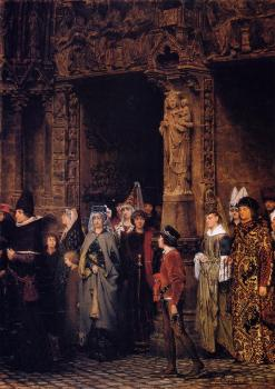 Sir Lawrence Alma-Tadema : Leaving the Church in the Fifteenth Century