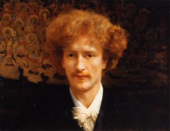 Sir Lawrence Alma-Tadema : Portrait of Ignacy Jan Paderewski