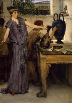 Sir Lawrence Alma-Tadema : Pottery Painting