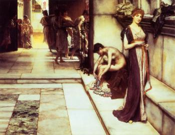 Sir Lawrence Alma-Tadema : The Apodyterium