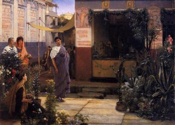 Sir Lawrence Alma-Tadema : The Flower Market