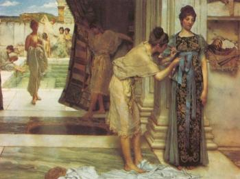 Sir Lawrence Alma-Tadema : The Frigidarium