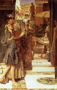 Sir Lawrence Alma-Tadema : The Parting Kiss