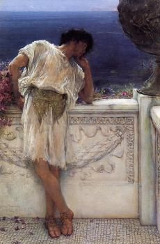 Sir Lawrence Alma-Tadema : The Poet Gallus Dreaming