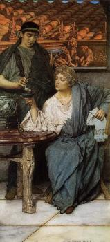 Sir Lawrence Alma-Tadema : The Roman Wine Tasters