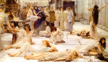 Sir Lawrence Alma-Tadema : The Women of Amphissa