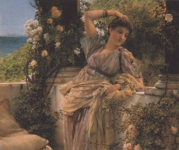 Sir Lawrence Alma-Tadema : Thou Rose of All Roses