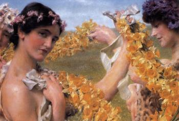 Sir Lawrence Alma-Tadema : When Flowers Return