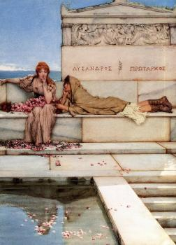 Sir Lawrence Alma-Tadema : Xanthe and Phaon