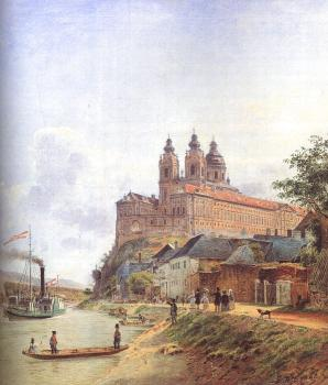 Jakob Alt : The Monastery of Melk on the Danube