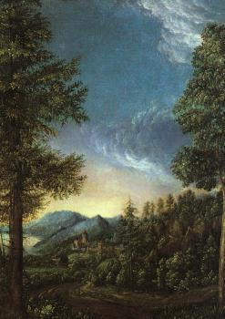 Albrecht Altdorfer : View of the Danube Valley near Regensburg