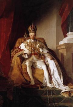 Friedrich Von Amerling : Emperor Franz I of Austria in his Coronation Robes