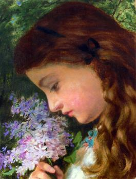 Sophie Gengembre Anderson : Girl With Lilac