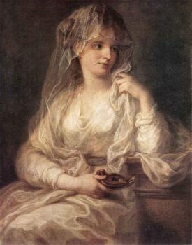 Angelica Kauffmann : Portrait Of A Woman Dressed As Vestal Virgin