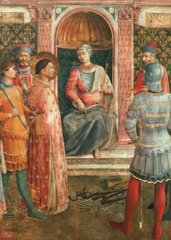 Fra Angelico : Saint Lawrence before Valerianus (with Benozzo Gozzoli)