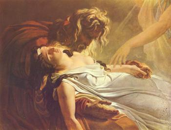 Anne-Louis Girodet De Roussy-Trioson : Malvine, Dying in the Arms of Fingal