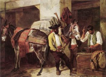 Richard Ansdell : The Blacksmith's Shop