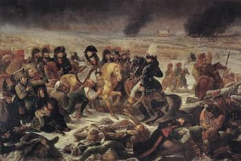 Napoleon on the battlefield of Eylau