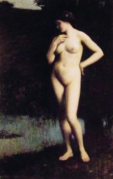 Antony Troncet : Standing Nude Before the Lake