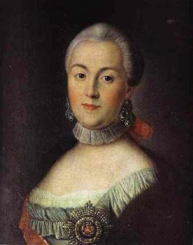 Portrait of Grand Duchess Catherine Alekseevna, Future Empress Catherine II the Great