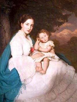 James Archer : Caroline philips, lady trevelyan with her son charles, later sir charles philips trevelian 3rd bt