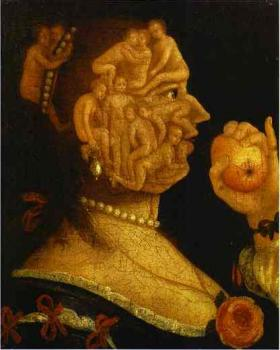Giuseppe Arcimboldo : Eve and the Apple