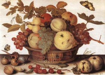 Balthasar Van Der Ast : Graphic Fruit Basket