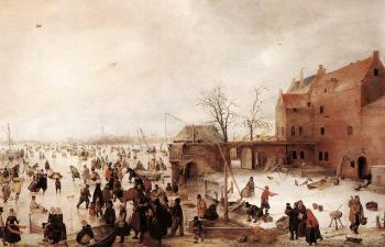 A Scene On The Ice Near A Town II